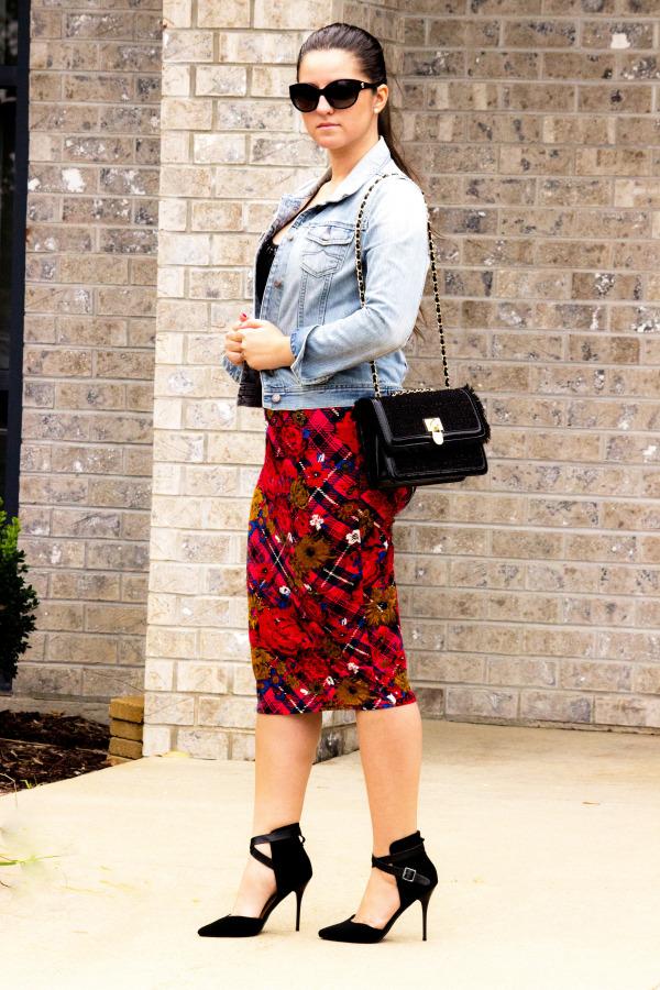 Fall Printed Skirt
