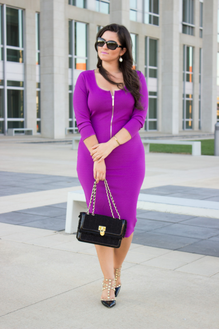 Pink Dress And Purple Shoes