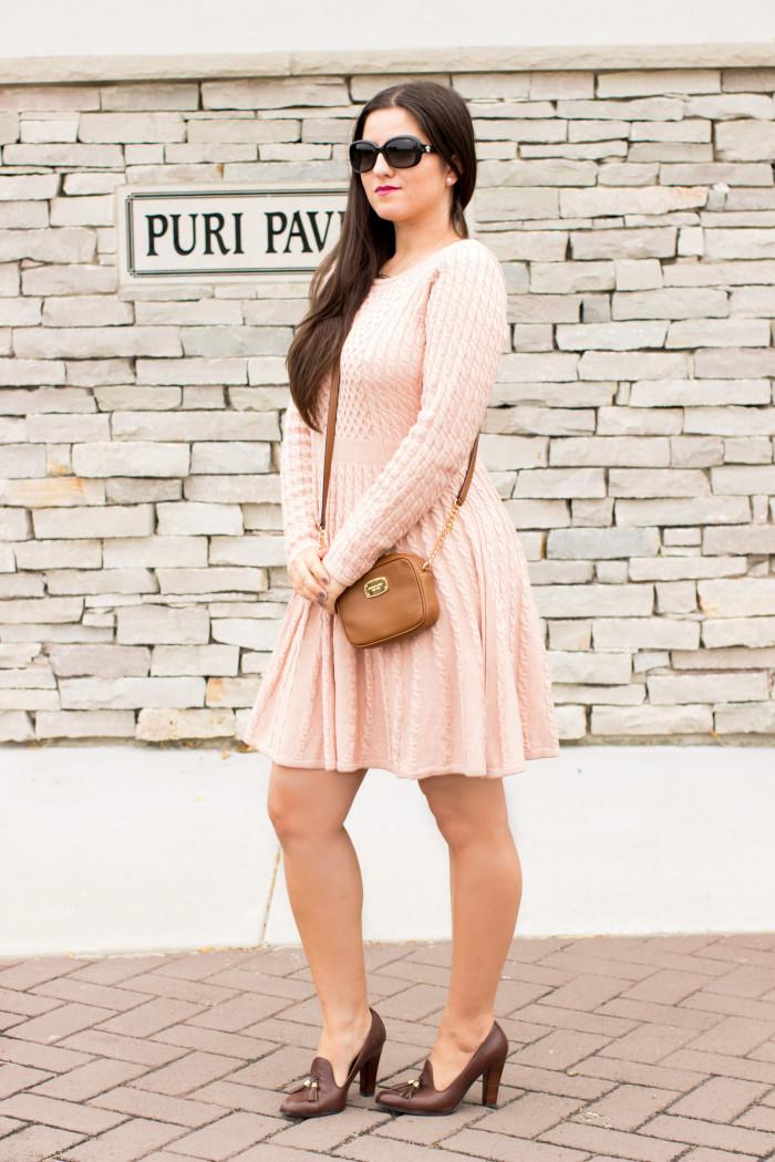 Pink Sweater Dress  Baily Lamb