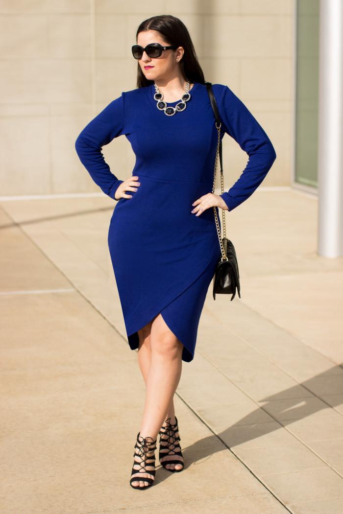 plain outfit dress blue wear