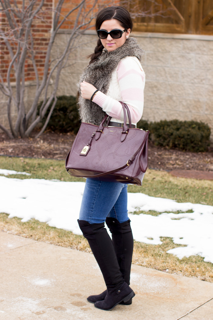 Jeans and over the knee boots | Baily Lamb