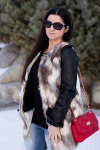 Styling a Faux Fur Vest