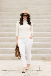 White and Beige Spring Outfit