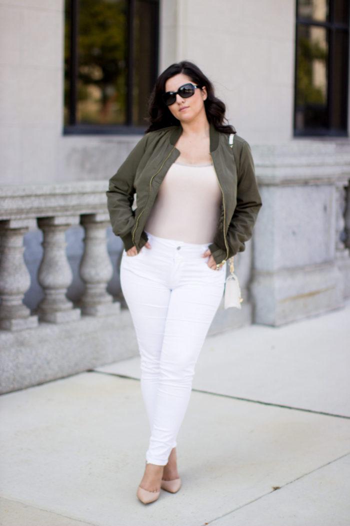 Kim Kardashian Bomber Jacket Outfit Baily Lamb