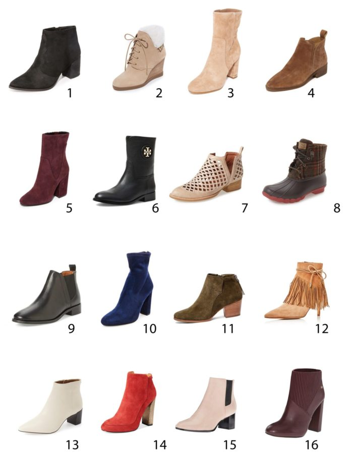 favorite boots for fall and winter, ankle booties, flat ankle boots, heel boots,