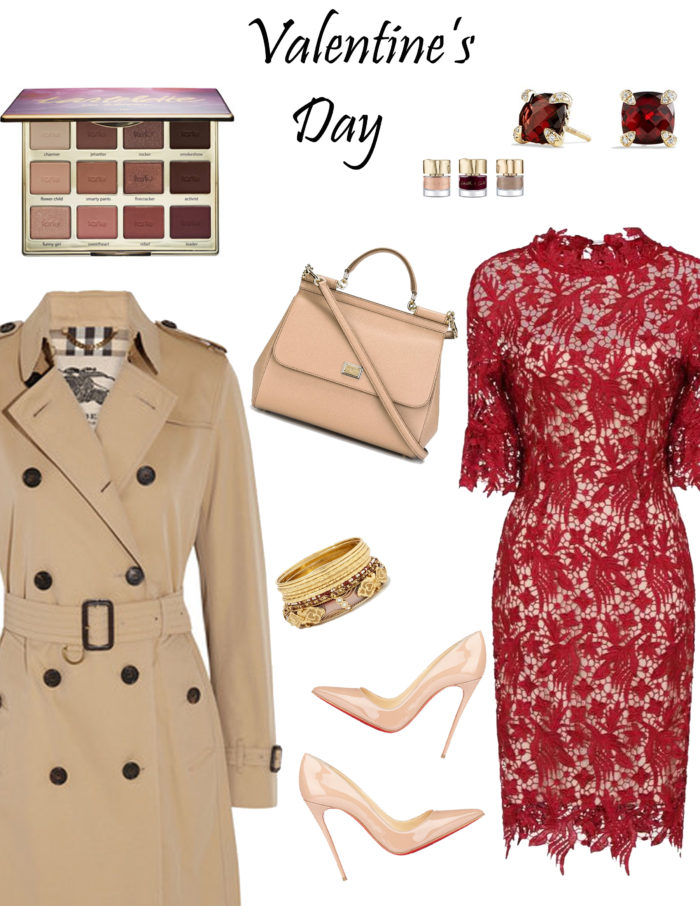 red lace dress for valentine's day