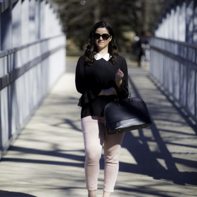 the perfect ruffle sleeve top