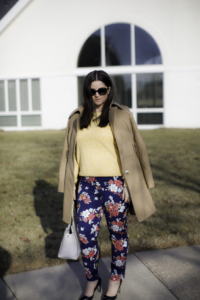 how to style floral printed pants