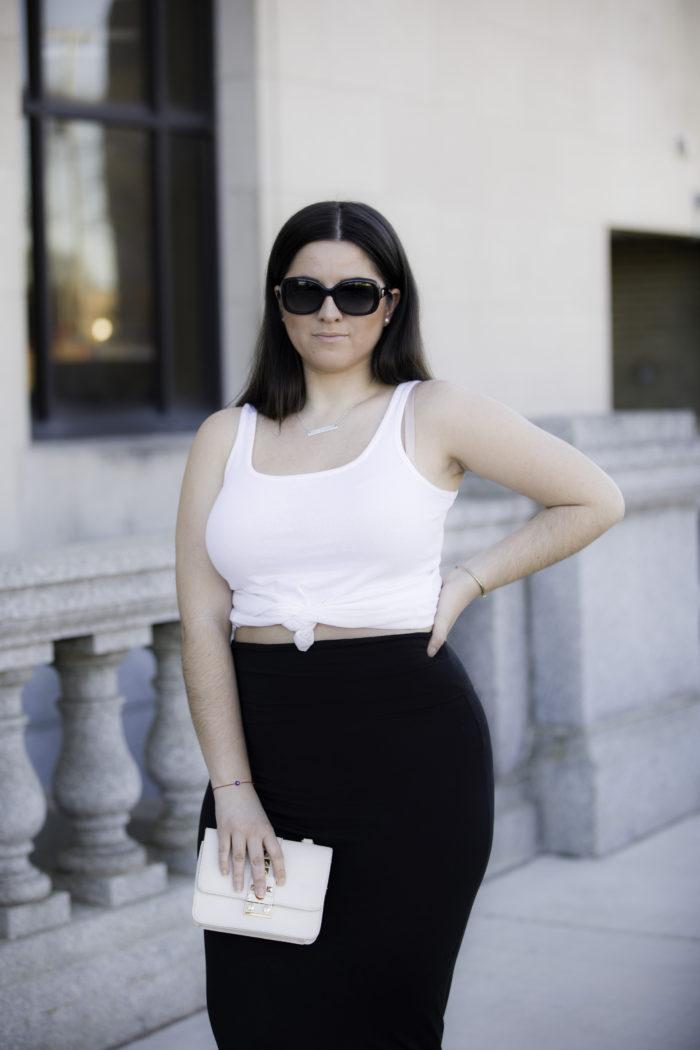 black and white outfit, baily lamb, kim kardashian outfit inspiration