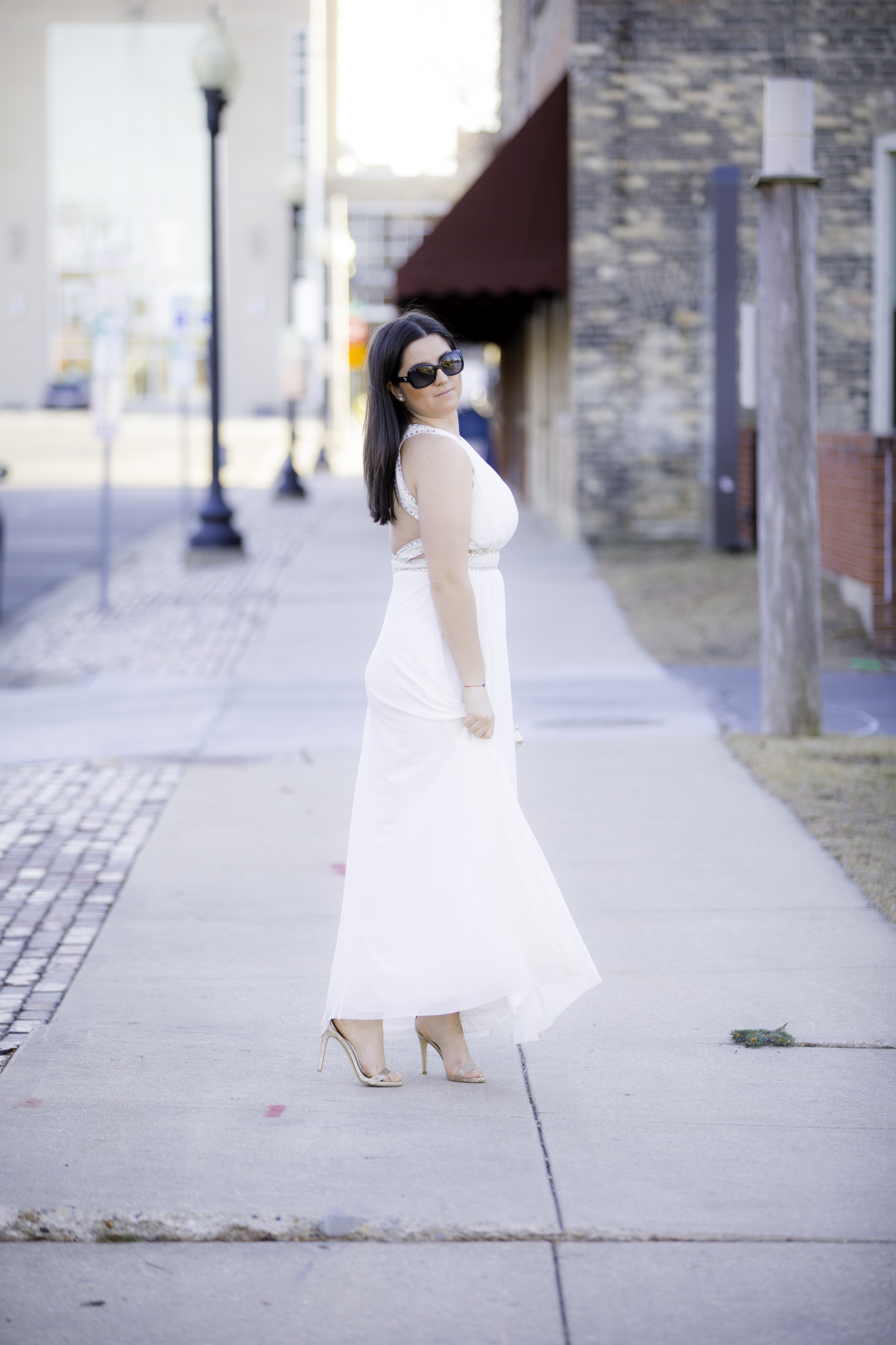 special occasion dress, white prom dress, long white dress