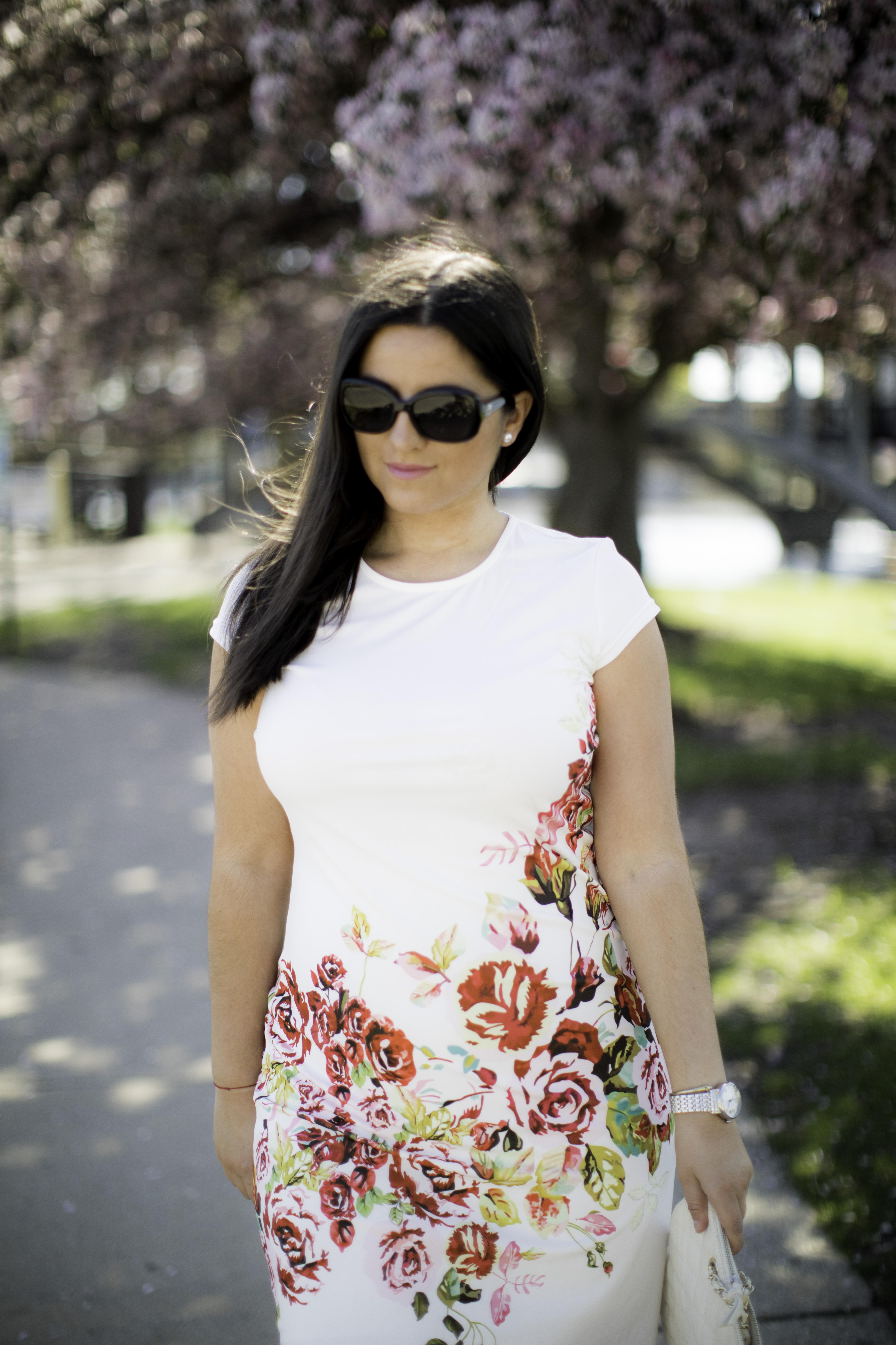 amazon fashion, floral dress, bailylamb, chicago fashion blogger, chicago fashion