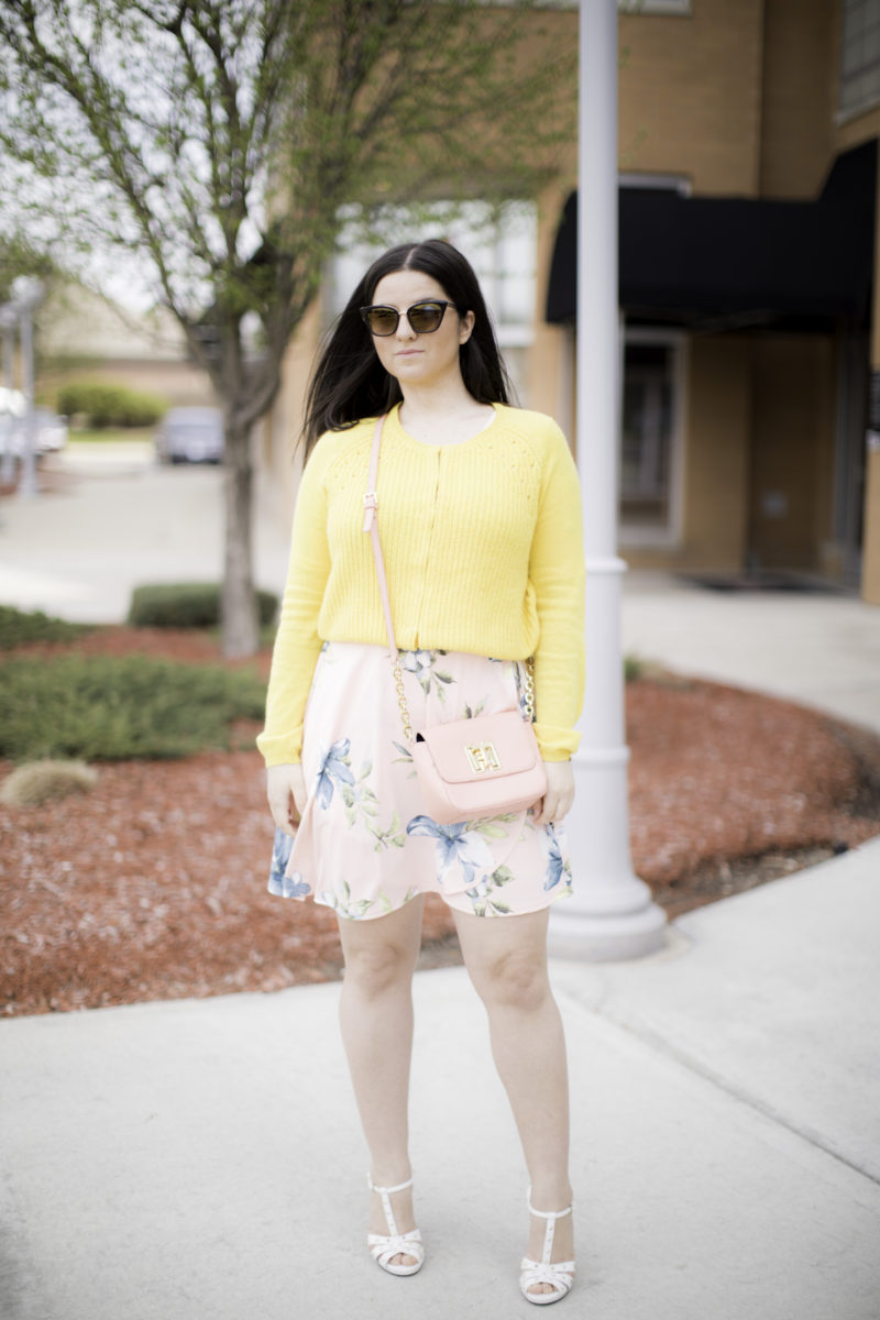 colorful spring outfit idea