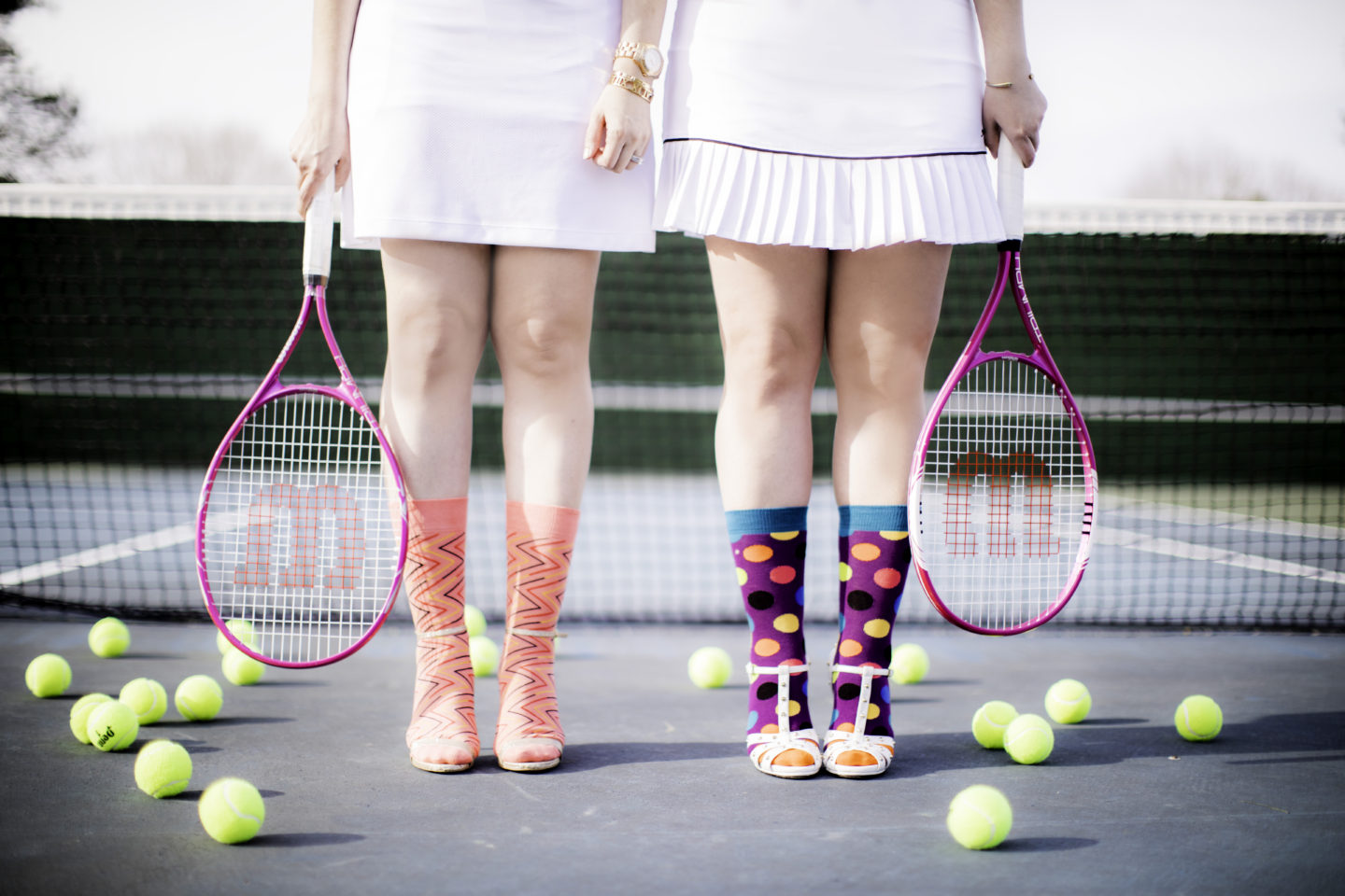 Playing Tennis with Happy Socks