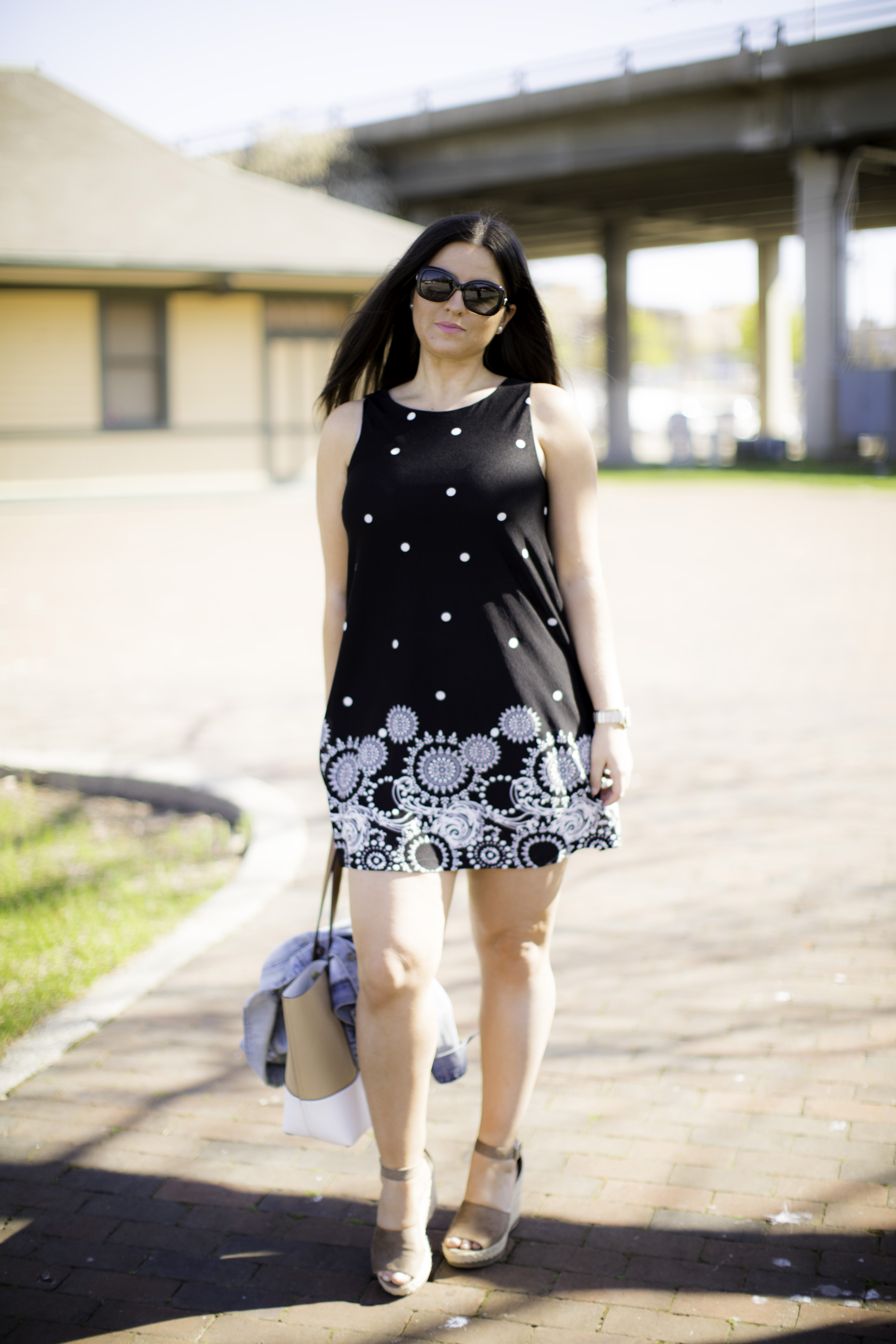 summer dress, chloe wedge dupe, baily lamb fashion blogger, chicago blogger
