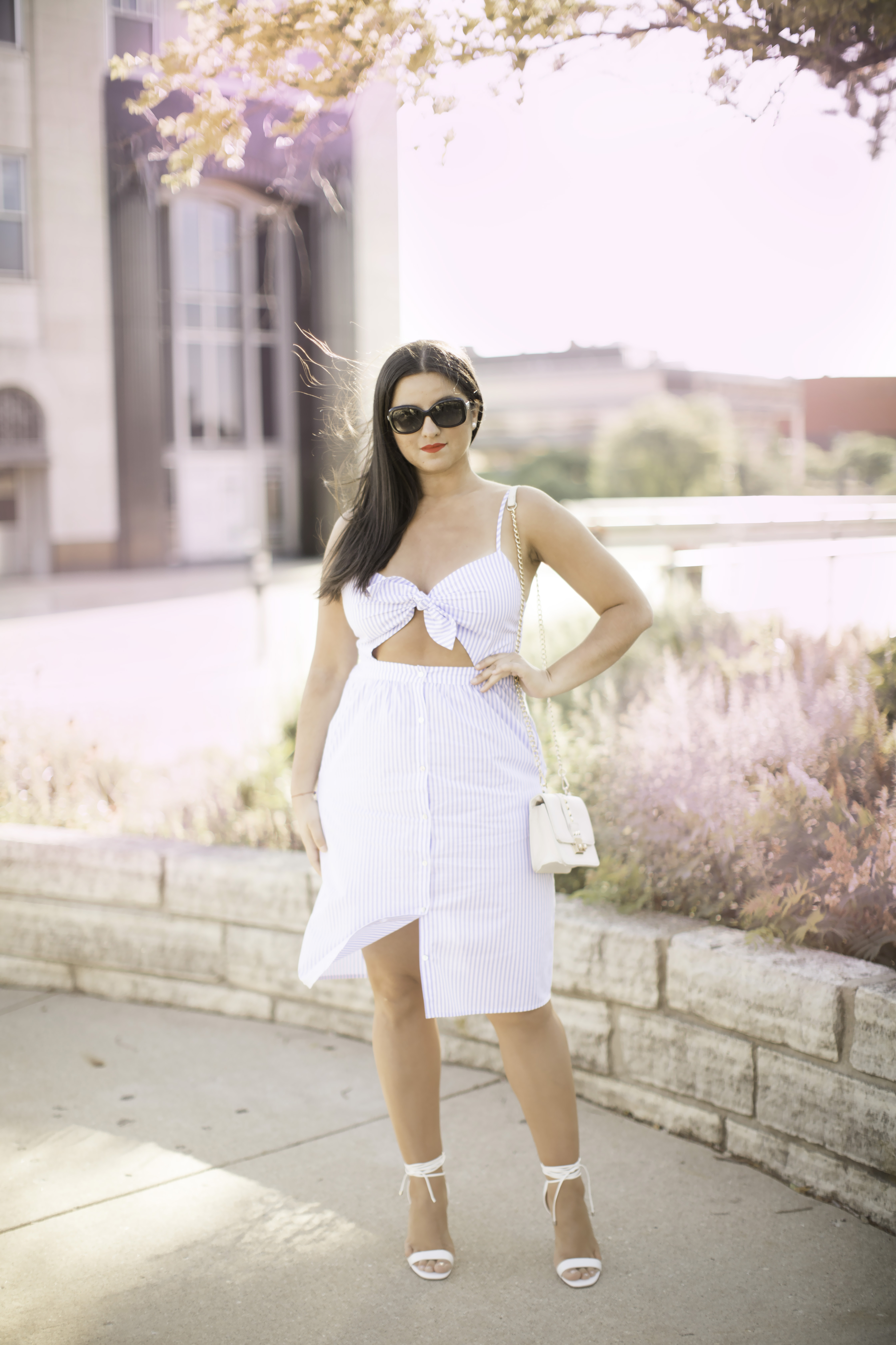 forever21 fashion, blue striped dress, baily lamb fashion blogger, chicago blogger, midwest blogger