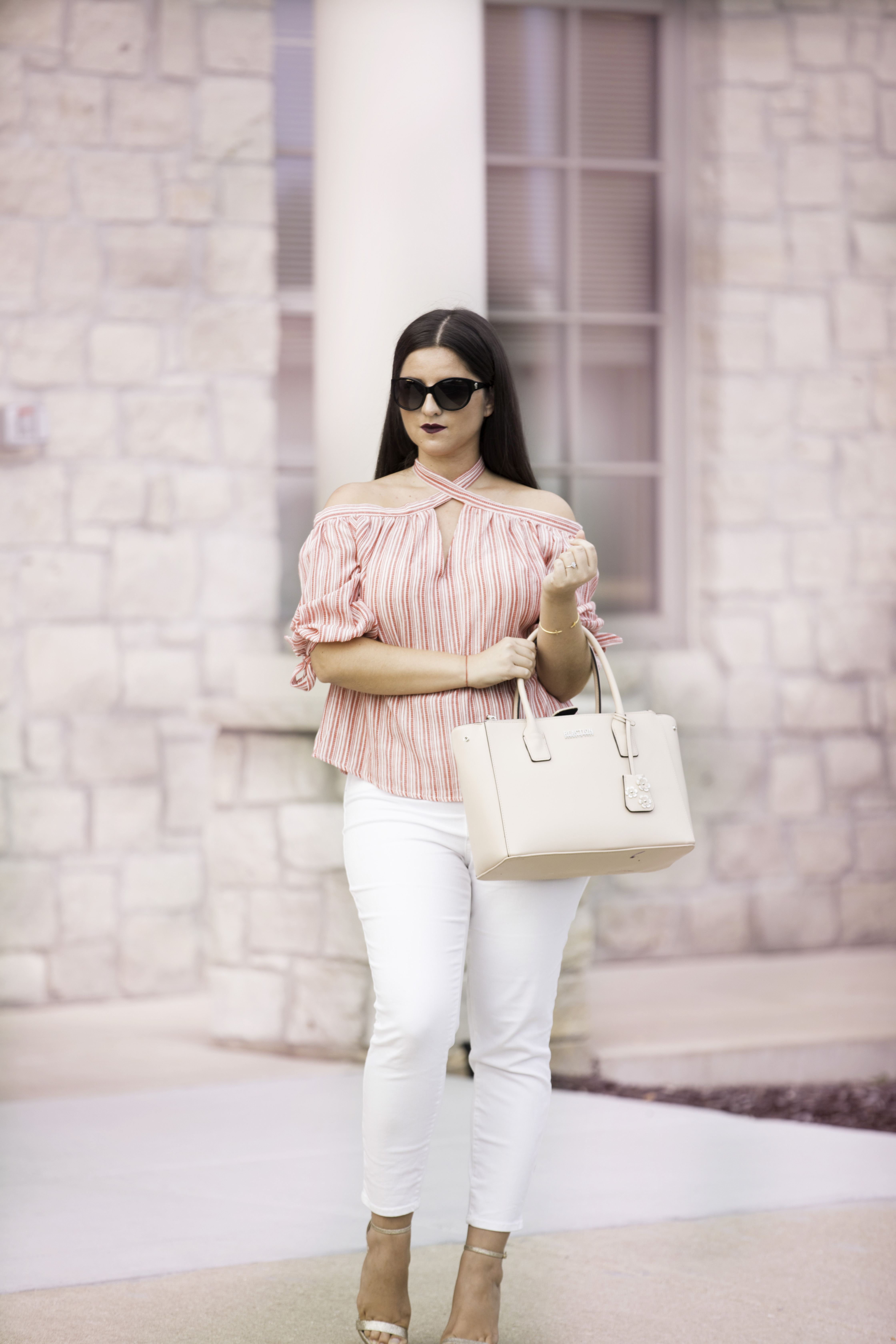 simple date night look outfit idea, white target jeans, amazon womens fashion, baily lamb, chicago blogger