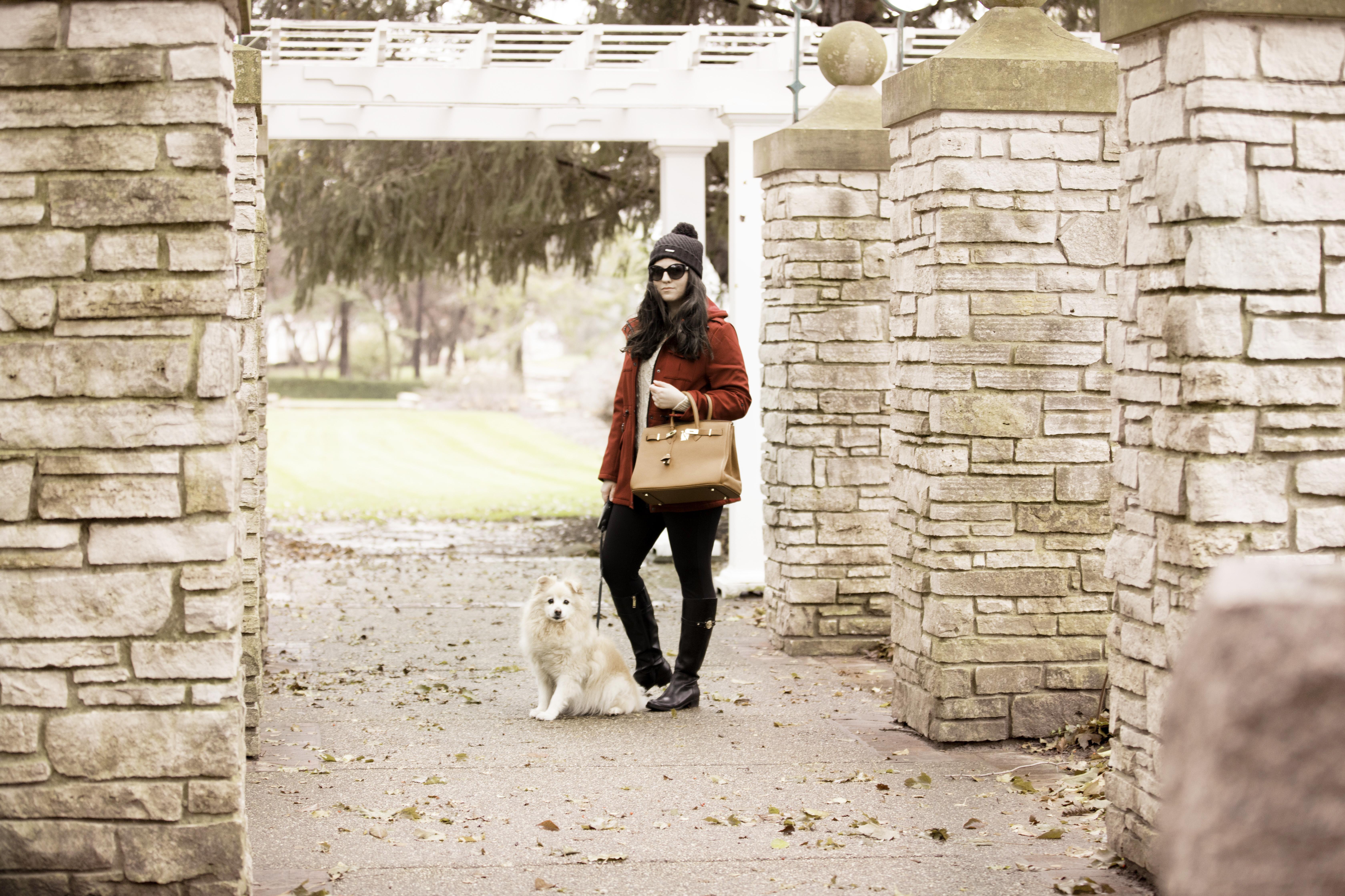 red coat, red rain coat, baily lamb, chicago fashion blogger, rockford blogger